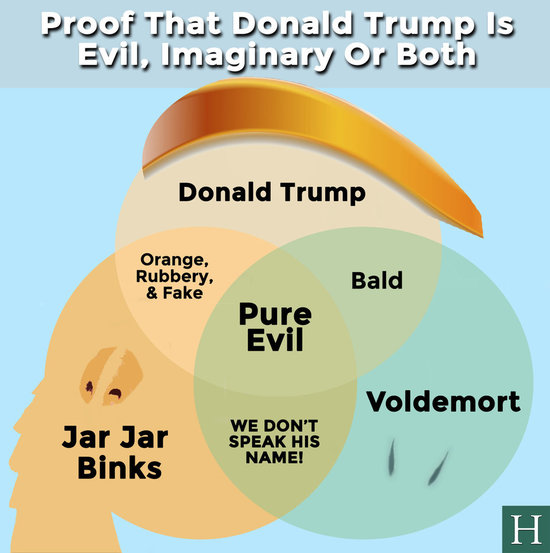 """Trump looks less like the sinister Emperor Palpatine and more like the hapless Jar Jar Binks"""