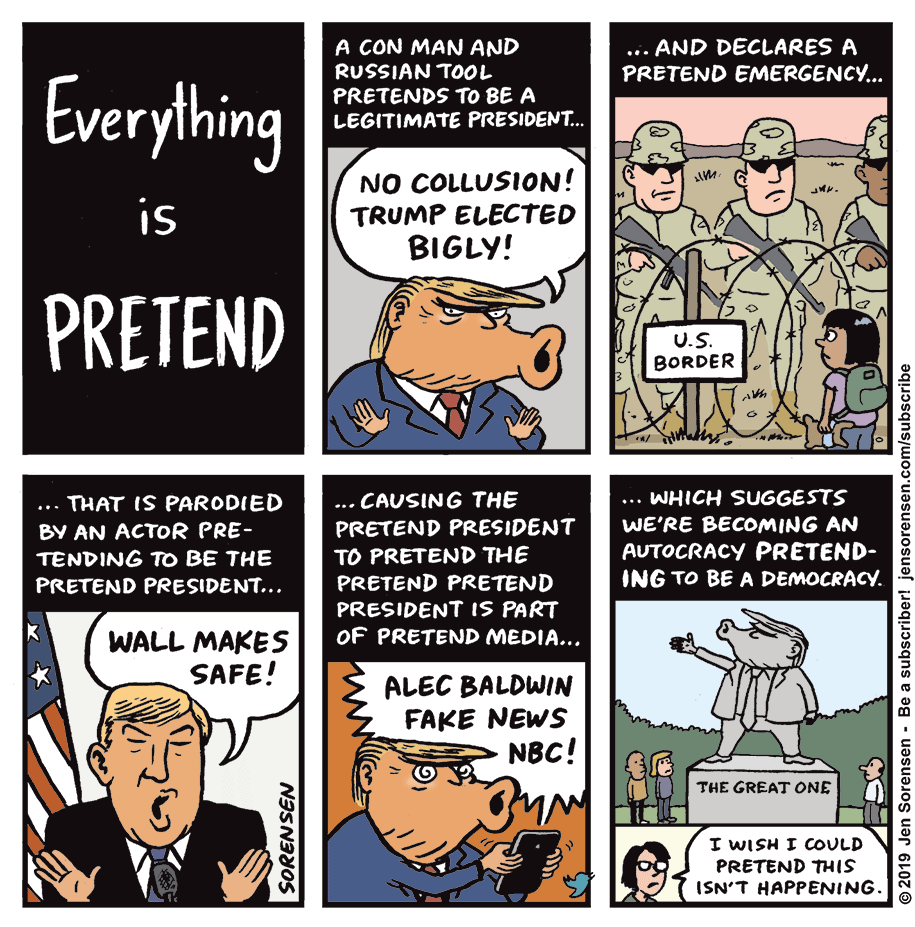 Cartoon: Everything is pretend