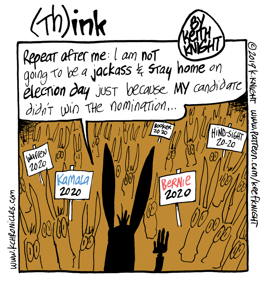 Cartoon: Repeat after me