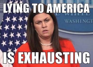 Image result for sarah huckabee sanders meme