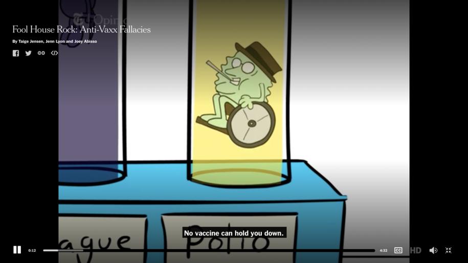 Must Watch Video: Fool House Rock - Anti-Vaxx Fallacies