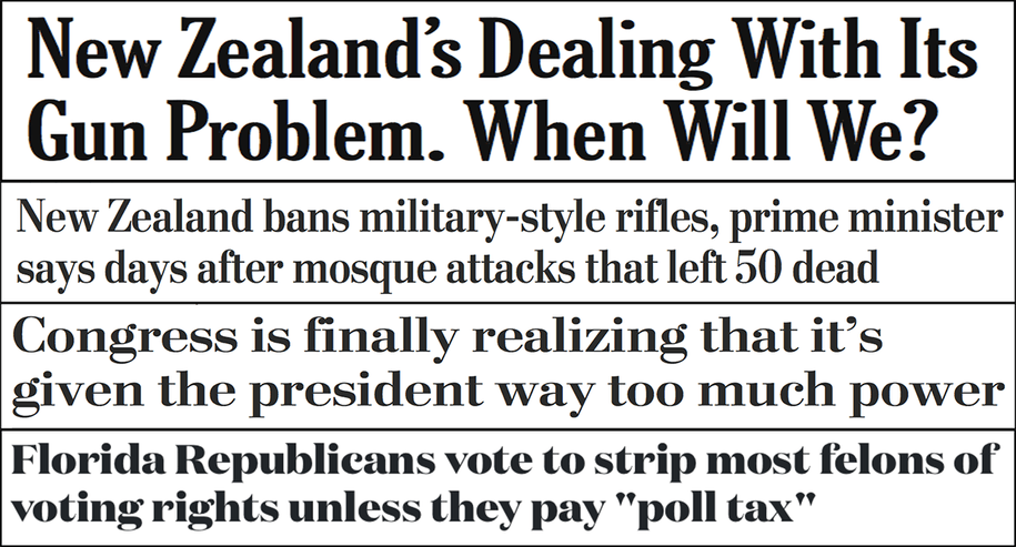 Abbreviated pundit roundup: Gun safety reform, Florida's 'poll tax' and more