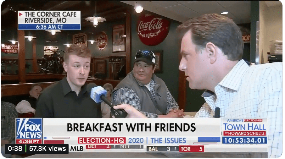 Fox News reporter gets live surprise by a well-informed Missouri man's support of Green New Deal