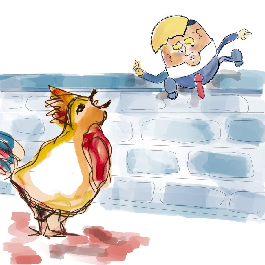 Humpty Trumpty Wanted a Wall