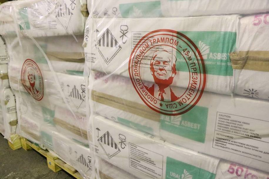 TRUMP WELCOMES THE (NEW) RUSSIAN ASBESTOS MARKET