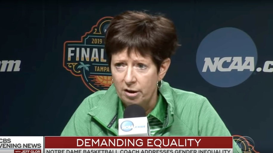 Notre Dame coach's two-minute response to being called the 'voice' for women in sports goes viral