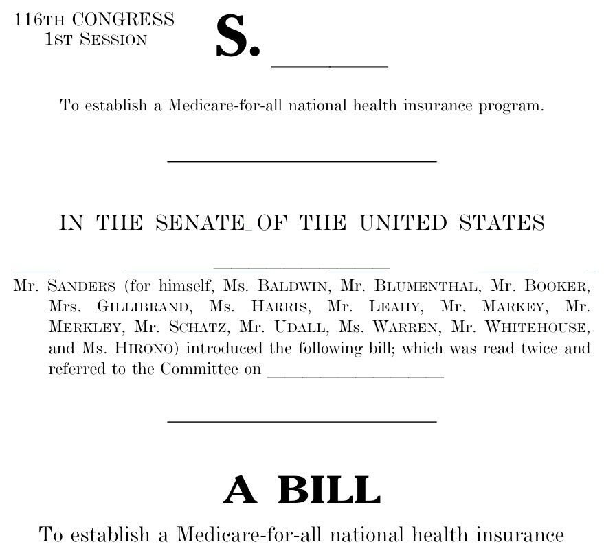 Bernie's *revised* M4A bill is here...what's changed?