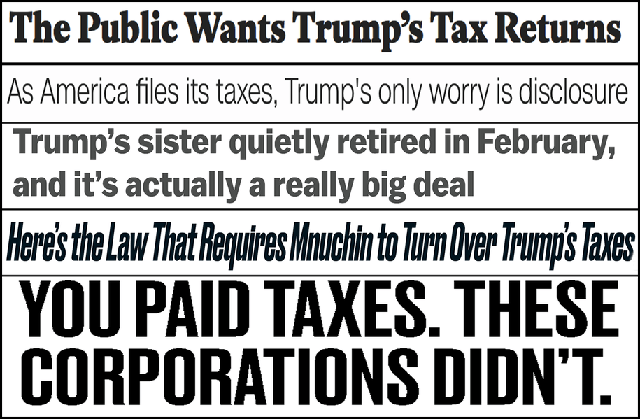 Abbreviated pundit roundup: The public needs to see Trump's tax returns
