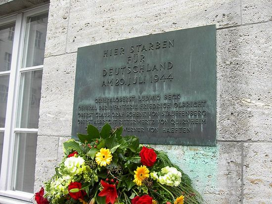 Memorial to executed  July 20th plotters of the German resistance