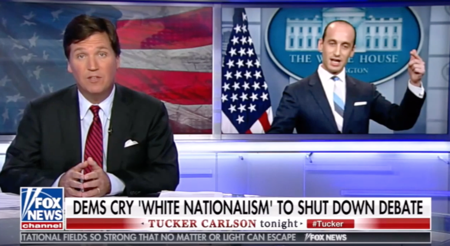 photo image Tucker Carlson leads a whitewash parade for white nationalism: Calling it out stirs up hate, he says