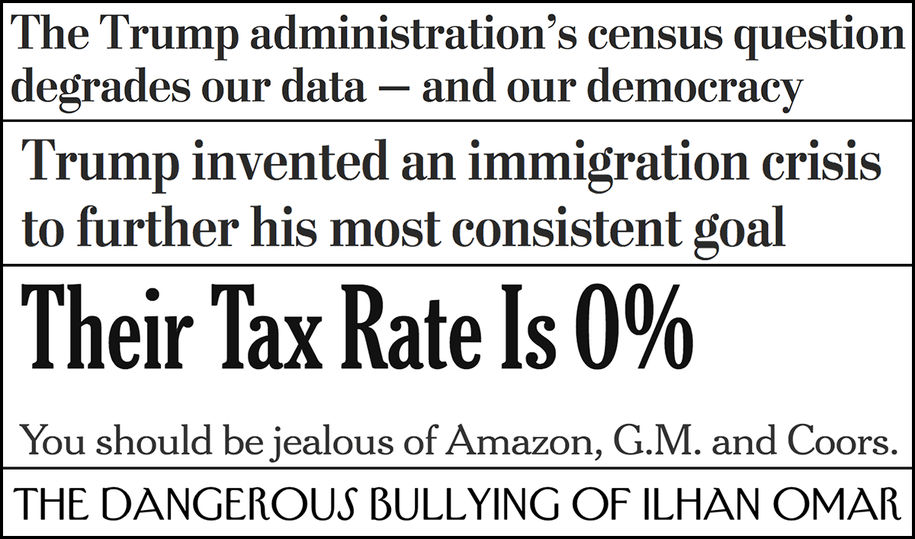 Abbreviated pundit roundup: Border policy, citizenship question, taxes and more
