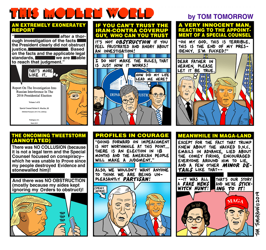 Cartoon: The extremely exoneratey report