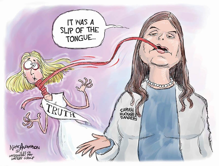 Cartoon: Sarah Huckabee Sanders