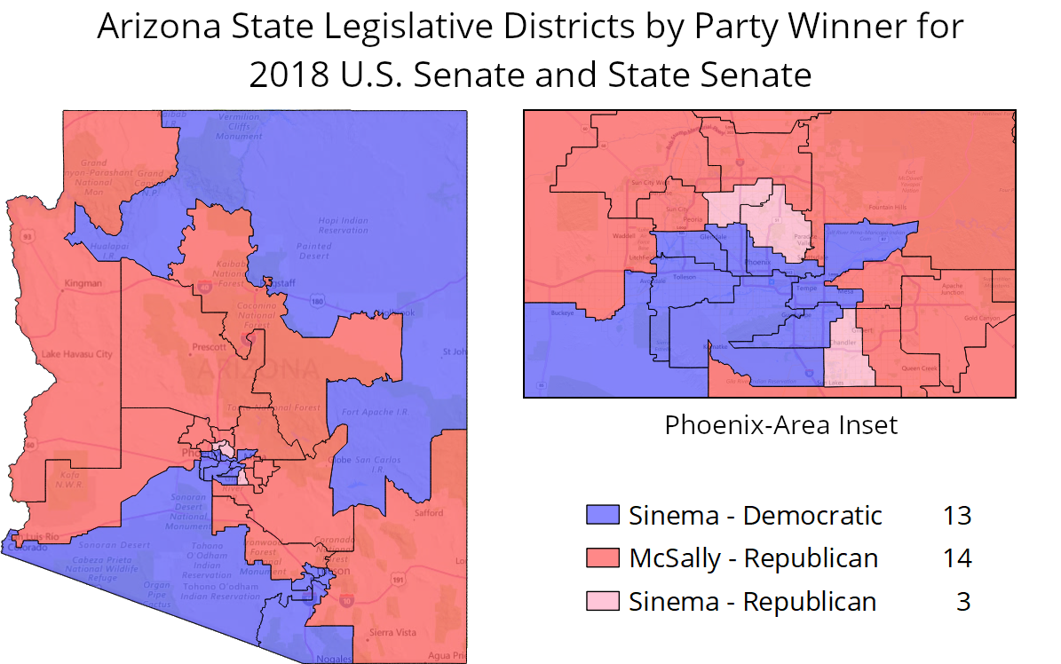 Map Of Arizona Voting Districts.Arizona S 2018 Senate Race Offers Roadmap For Democrats To Retake