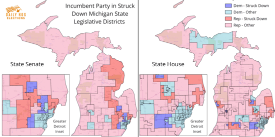 Michigan State Senate Map on
