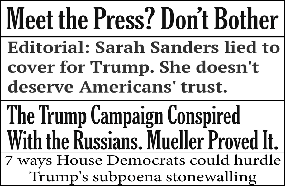 Abbreviated pundit roundup: Sarah Sanders refuses to do her job, impeachment and more