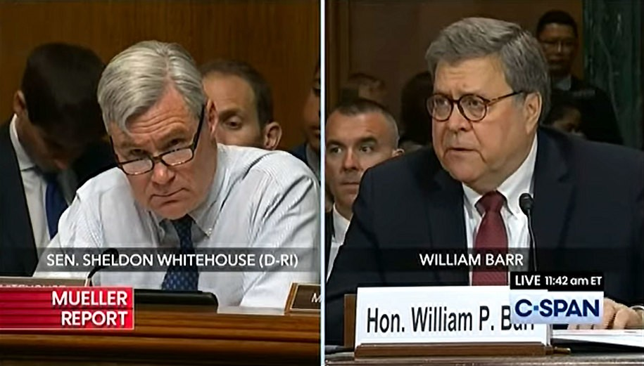 Sen. Whitehouse does great job of exposing Attorney General Barr's perjury