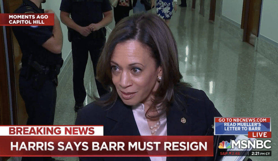Sen. Harris calls for Barr to resign after hearing: 'This attorney general lacks all credibility'