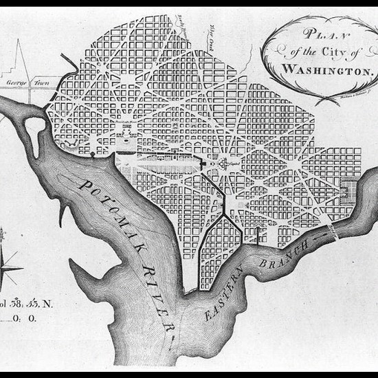 1792 map of Washington DC