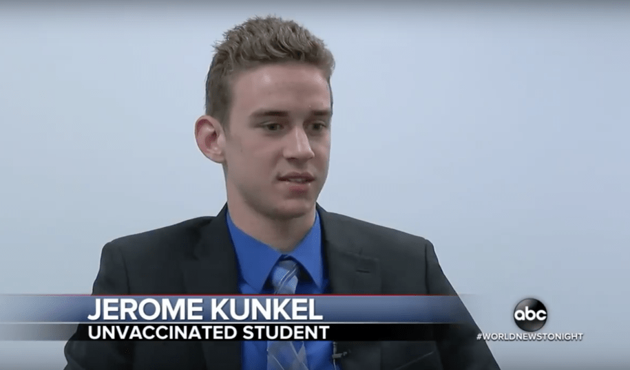 18-year-old anti-vaxxer student who sued to attend school during outbreak contracts chickenpox