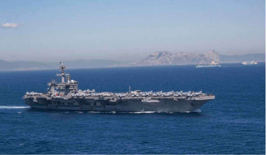 USS Abraham Lincoln, a carrier