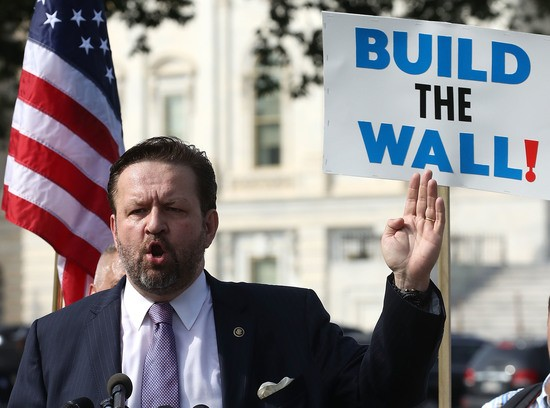 WASHINGTON, DC - SEPTEMBER 07: Sebastian Gorka speaks during a Angel Families rally at the U.S. Capitol on September 7, 2018 in Washington, DC. The rally was held by relatives of victims killed by illegal immigrants to highlight the impact of illegal alien crime in America.  (Photo by Mark Wilson/Getty Images)