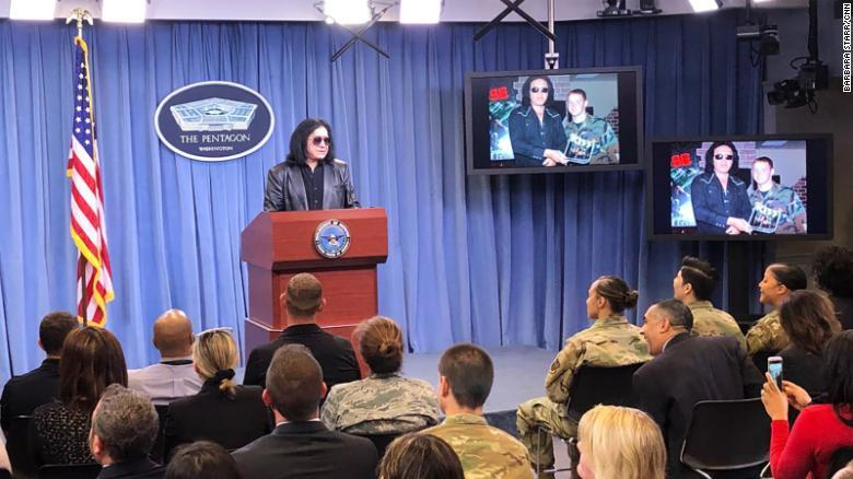 Gene Simmons Giving A PENTAGON BRIEFING????