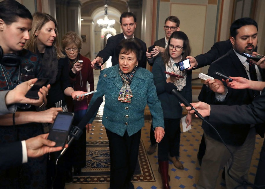 WASHINGTON, DC - FEBRUARY 11: Chairman Nita Lowey (D-NY) walks to a bipartisan negotiation meeting over securing the U.S. southern border and keeping the U.S. government from shutting down, on Capitol Hill February 11, 2019 in Washington, DC. (Photo by Mark Wilson/Getty Images)