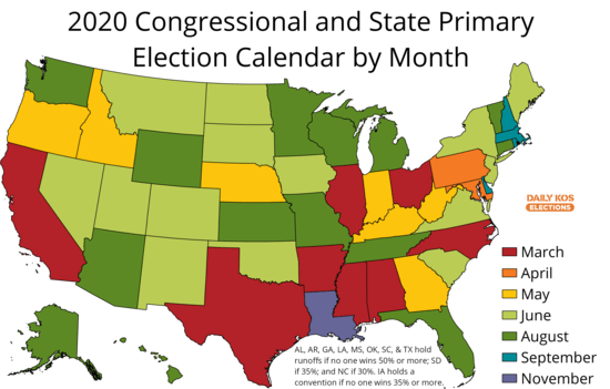 Mississippi State Calendar 2020 Daily Kos Elections 2020 primary calendar