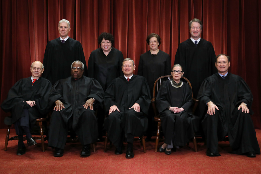 Trump tells women justices on Supreme Court to sit down, shut up, and let the menfolk talk