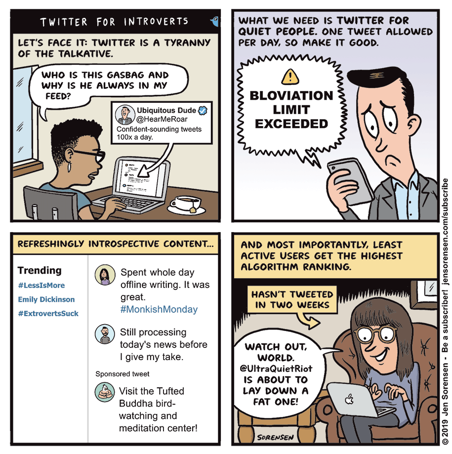 Flipboard: Cartoon: Twitter For Introverts