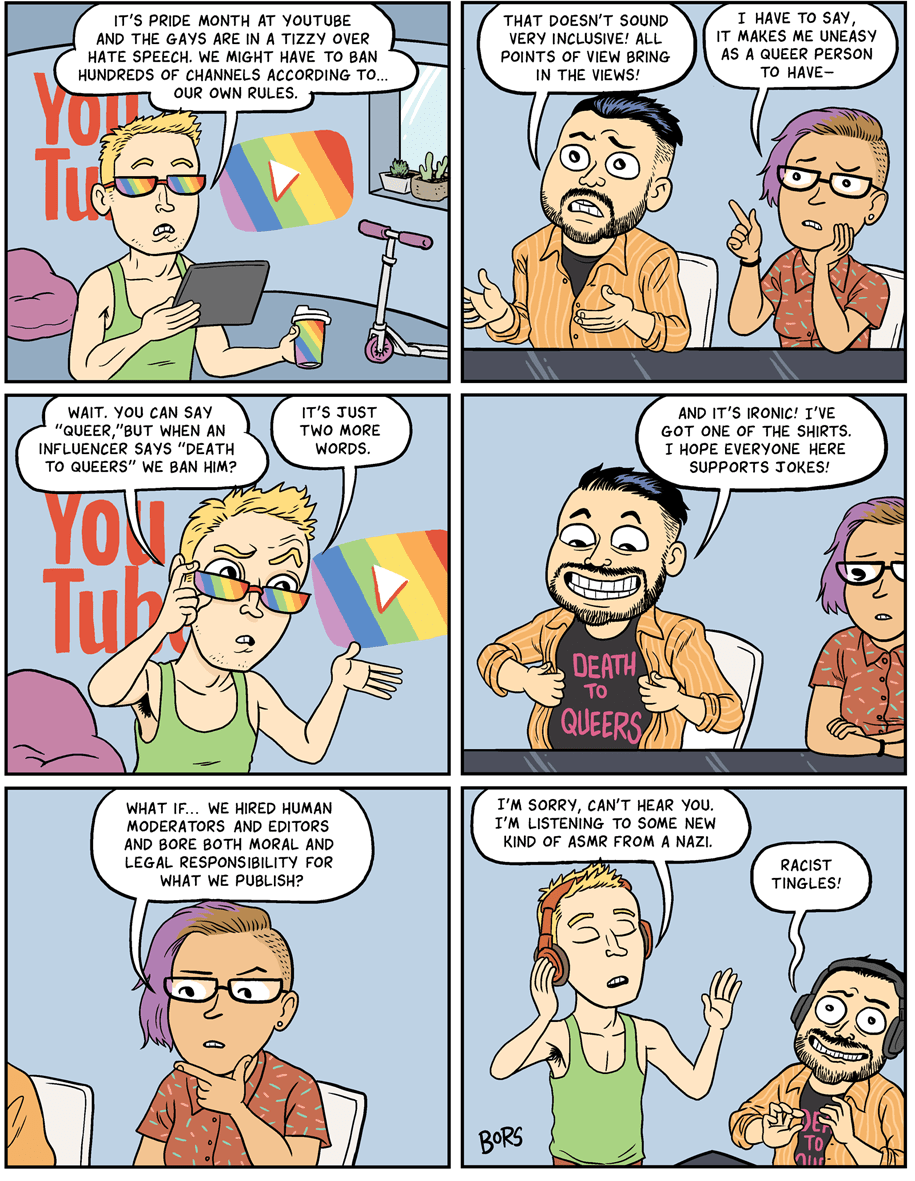 Cartoon: Pride month at YouTube!