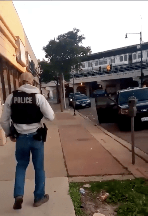 """""""Your Time is Up"""" bystander tells police officer conducting an illegal search"""