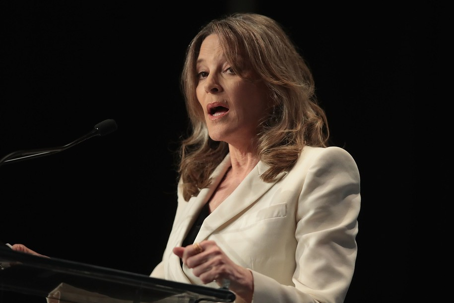 Marianne Williamson proposes stopping hurricanes with our minds