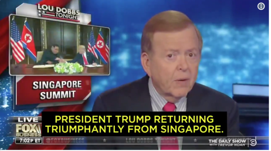 Lou Dobbs hails Donald Trump's meeting with brutal dictator Kim Jong Un