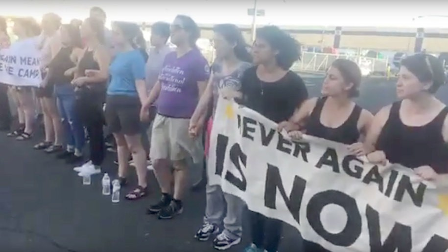 Dozens of Jews arrested protesting detention center: 'when we say never again we f*cking mean it!'