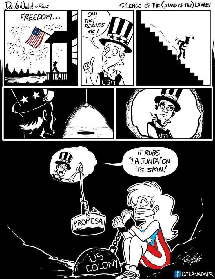 Cartoon: Independence day & US colonies