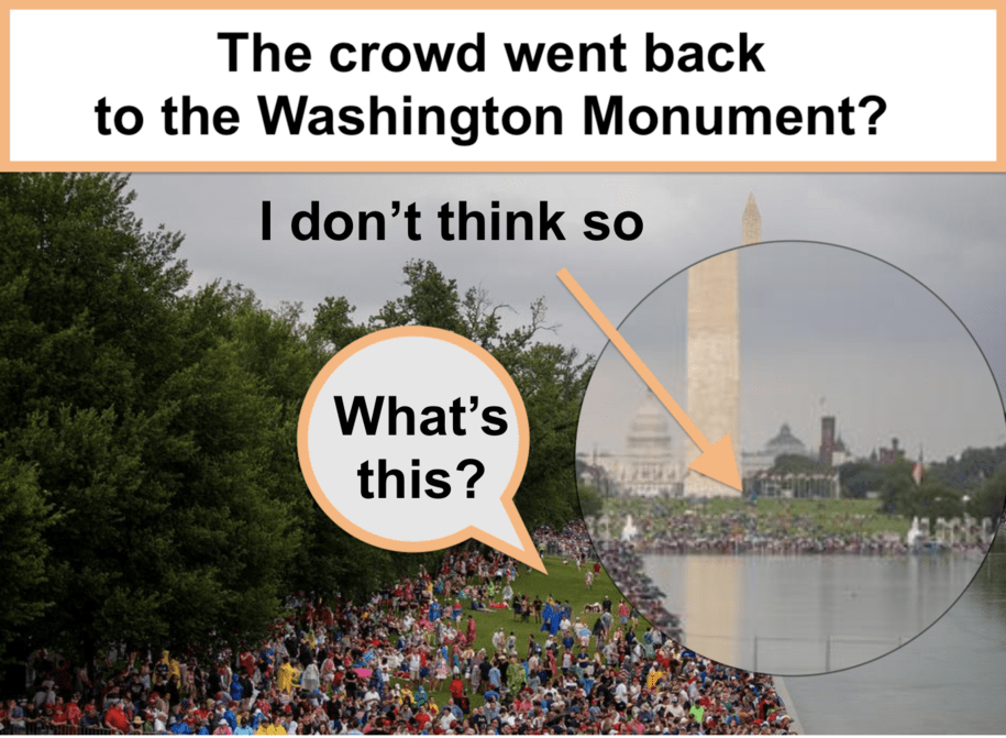 """""""The crowd went back to the Washington Monument."""" And where were the tributes to black Americans?"""