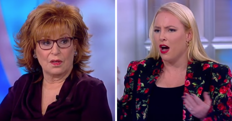 peak something as Pamela Anderson battles Meghan McCain on The View