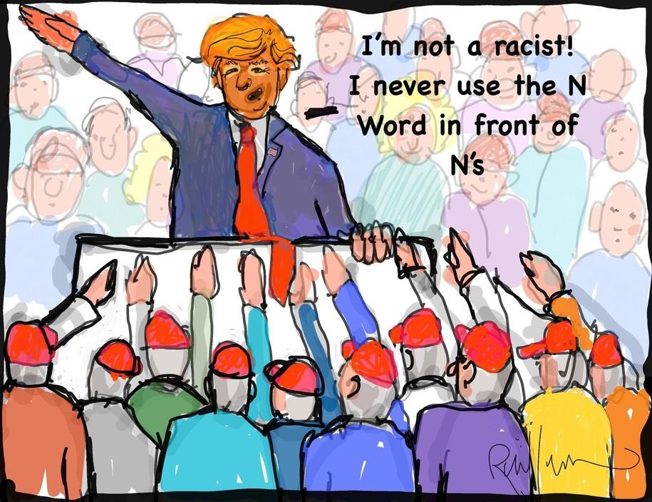 Trump: I am not a racist