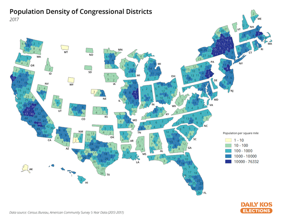 us map by congressional district We Took The Best Map Ever Of U S Congressional Districts And Made