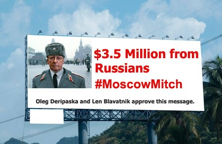 Moscow Mitch earns the Nickname, Lobbyists records show