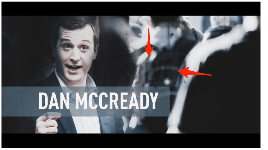 Conservative PAC attacks Democrat as 'greedy' ... with unlicensed stock footage