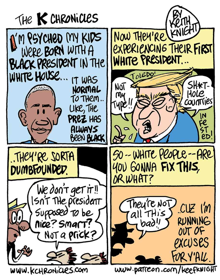 Cartoon: First white president