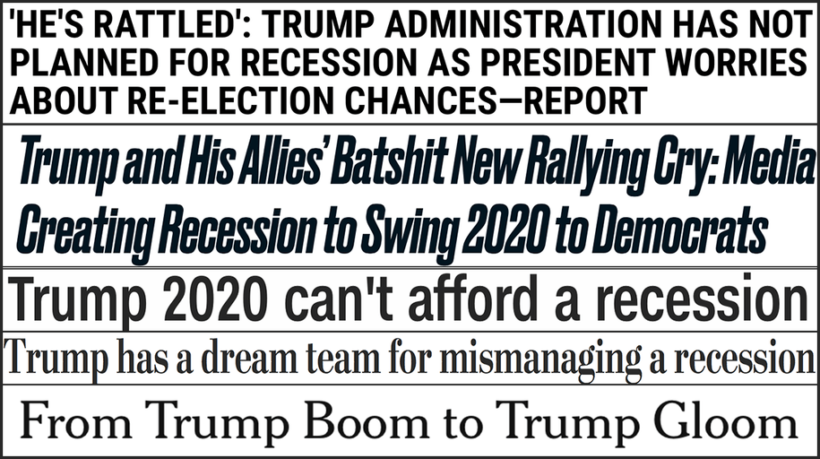 Abbreviated pundit roundup: How will the Trump administration handle a possible recession?