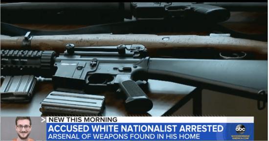 Weapons seized from James Reardon, Jr.