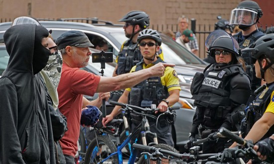 Citizen shames Portland cops.