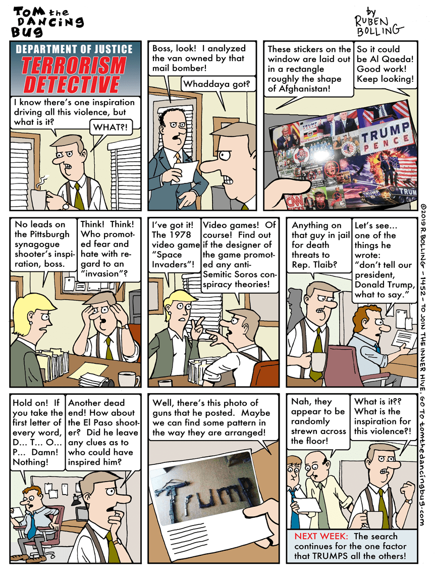Cartoon: Terrorism detective