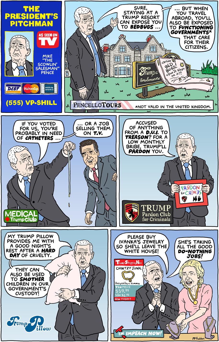 Cartoon: The President's pitchman