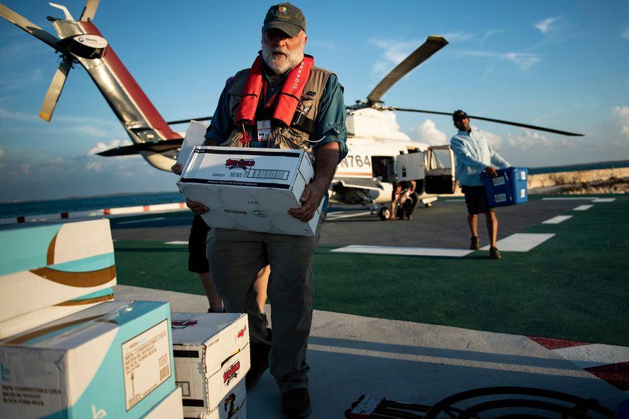 Chef José Andrés is serving 10,000 meals per day to Hurricane Dorian survivors in the Bahamas